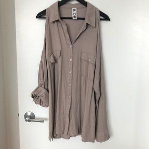 A/OK Oversized Open Shoulder Shirt
